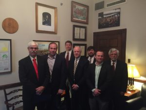 USRPA Missouri reps meet with Congressman Jason Smith.